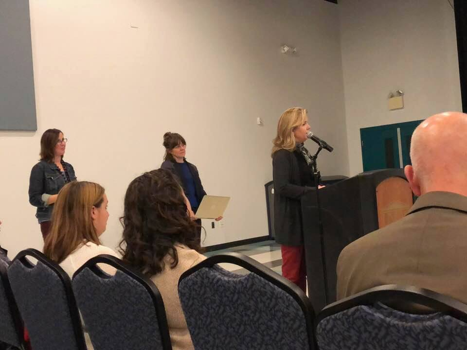 Dana Sargent Waits to Provide Public Comment at the Science Advisory Board Meeting, Wilmington, Dec. 4, 2017