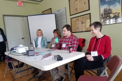 CFRW's Dana Sargent with reporters Adam Wagner and Lisa Sorg at the Free Movement: Truth and Fear and Wilmington's Water Crisis - Panel, Wilmington, March 24, 2018